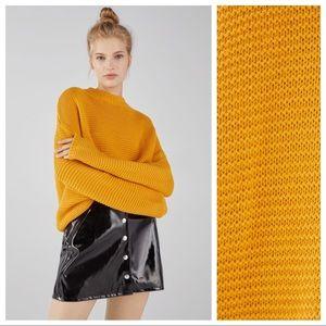 NWT. Bershka Mustard Oversized Sweater. Size L.